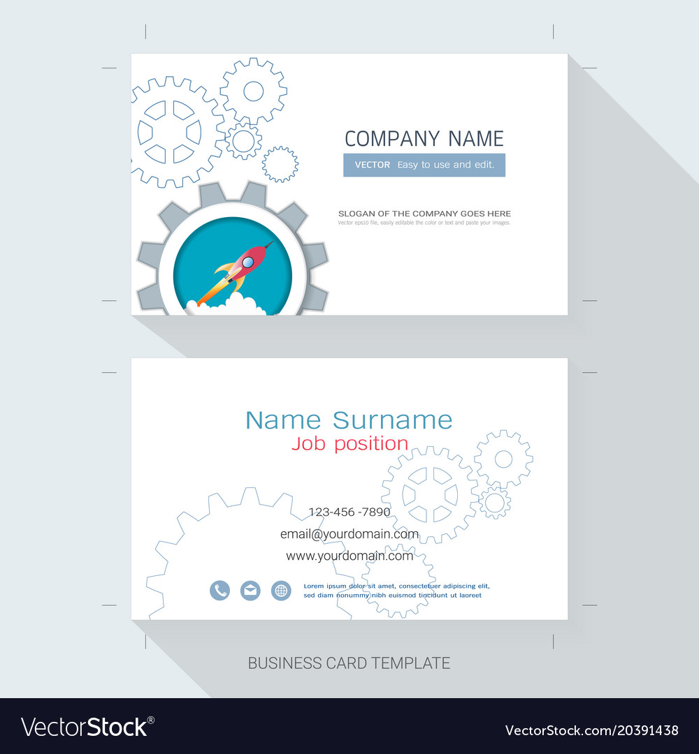 Startup business card or name card template vector image colourmoves