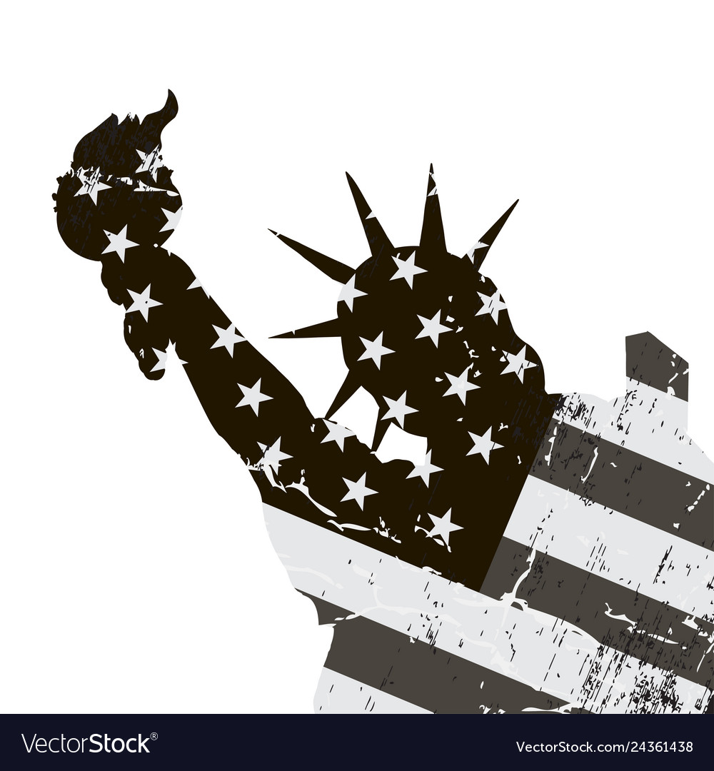 Statue liberty symbol new york city and the