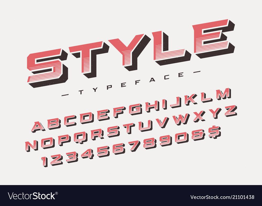 The style trendy retro display font design