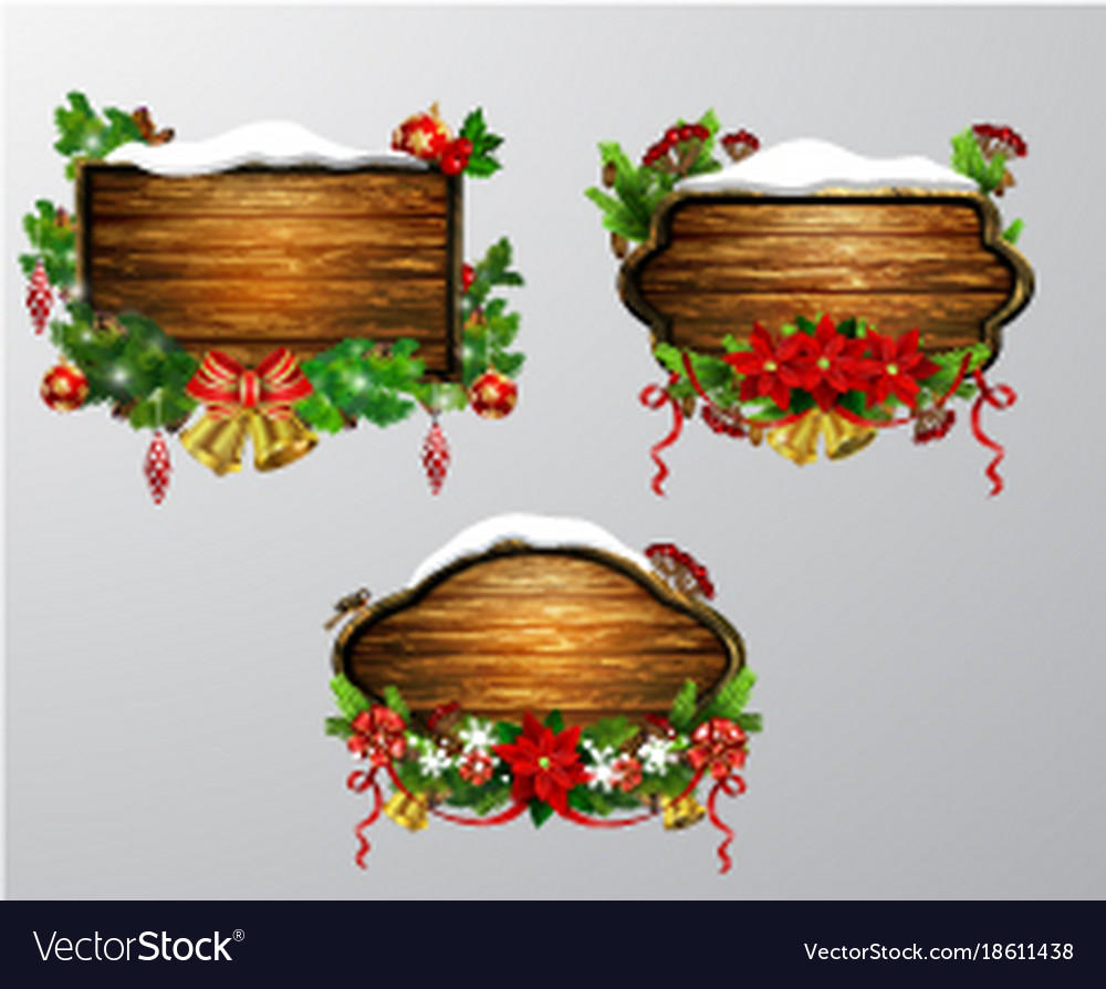 Wooden christmas board