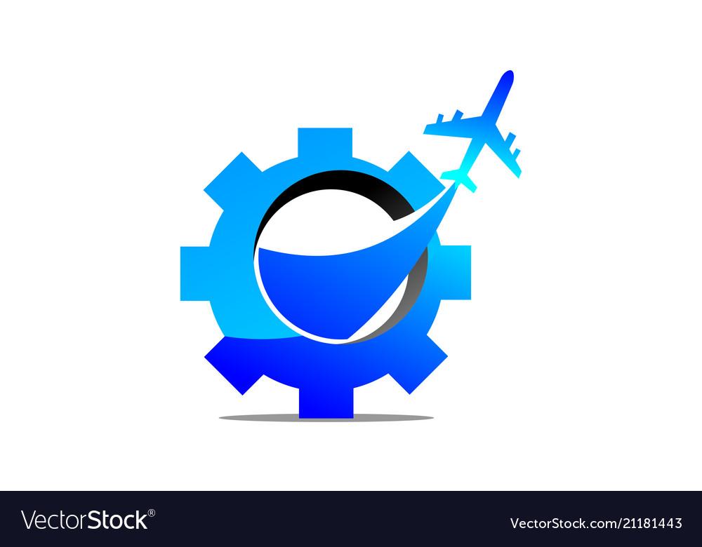 Aero technology logo design template