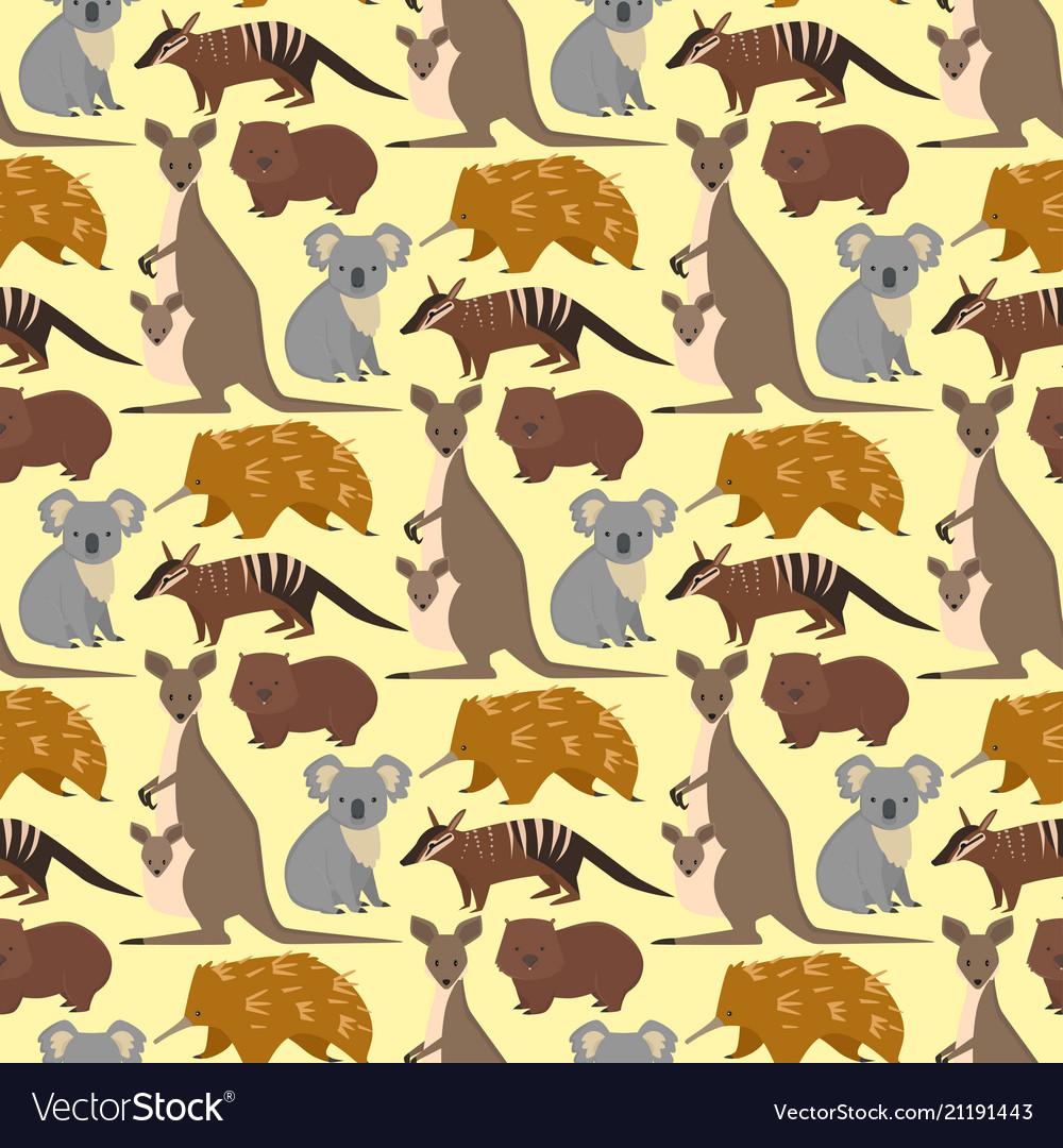Australia wild animals cartoon popular nature