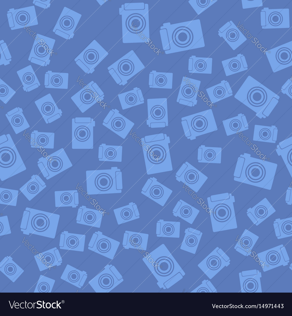 Digital camera icon seamless pattern vector image