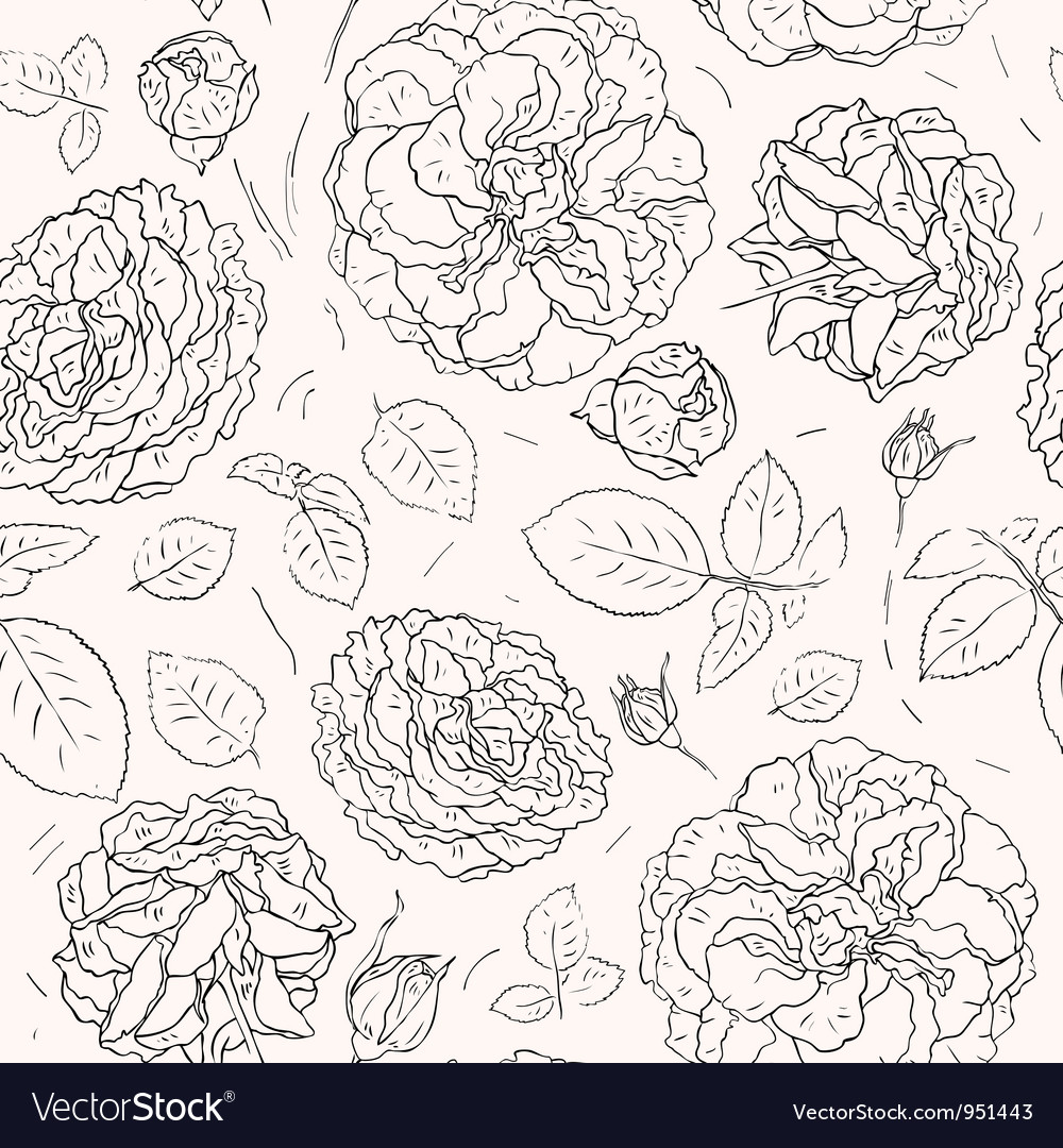 Flowers background Seamless pattern