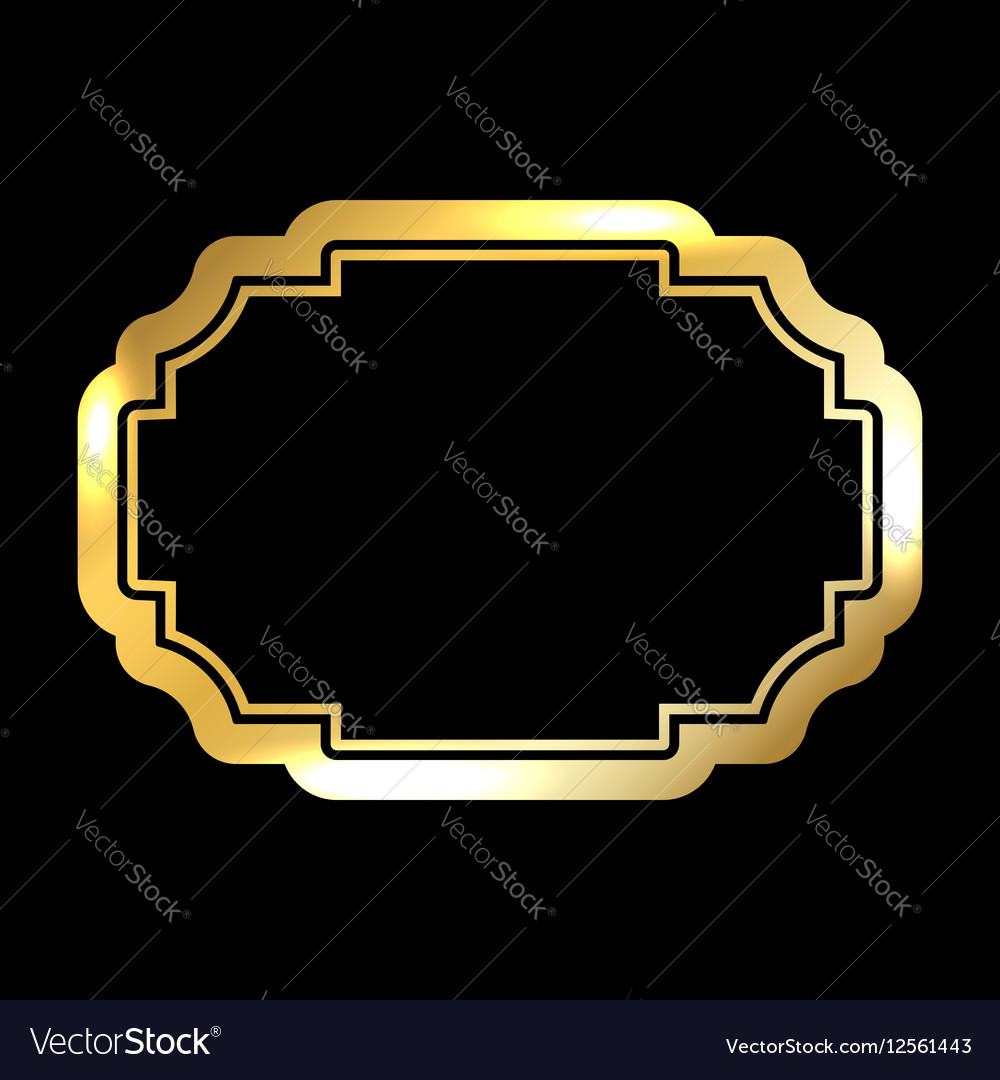 Gold frame simple golden black
