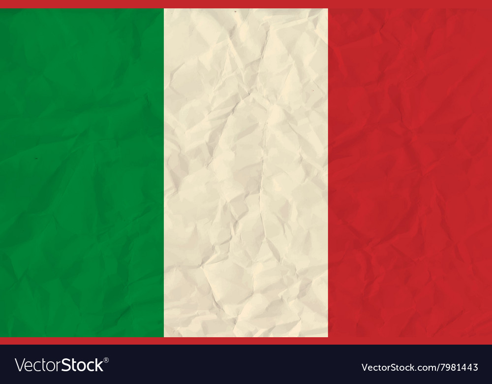 Italy paper flag vector image