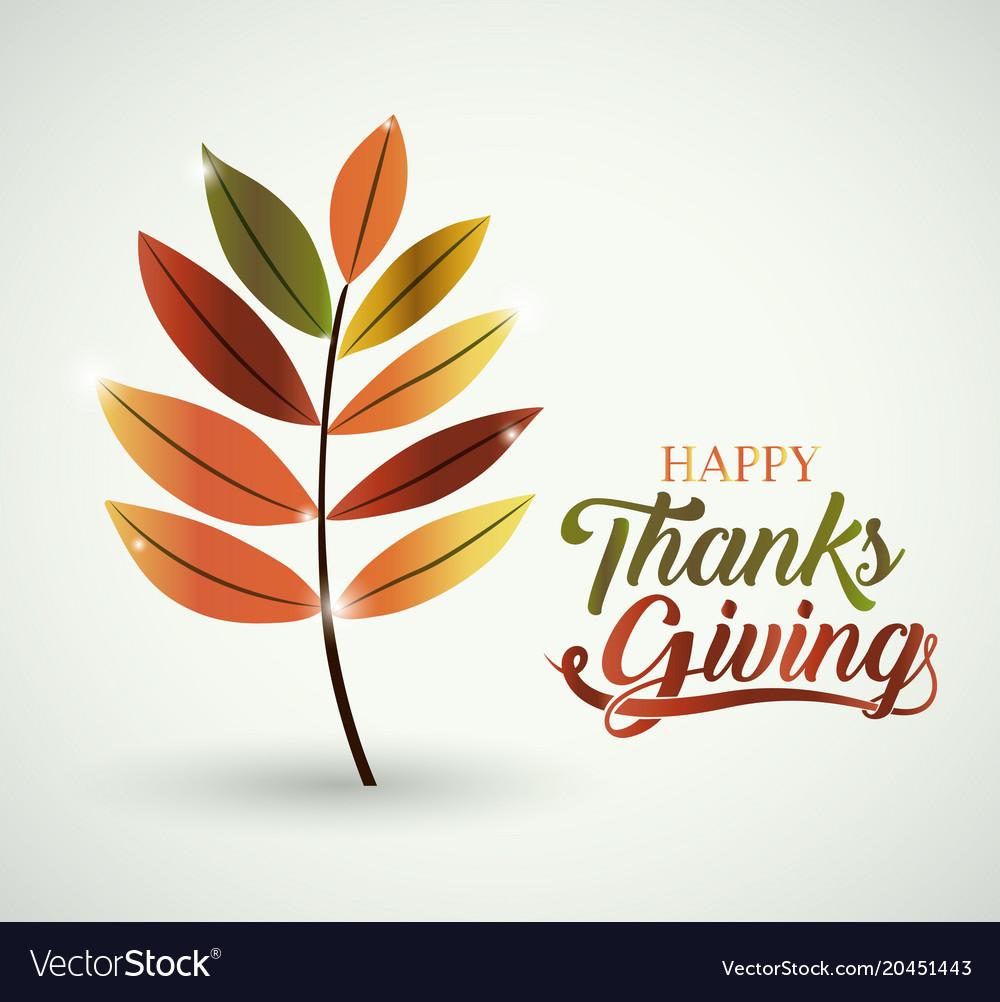 Leaf thanks given design