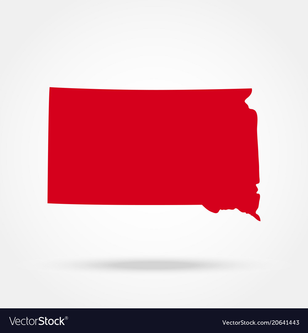 Map of the us state of south dakota