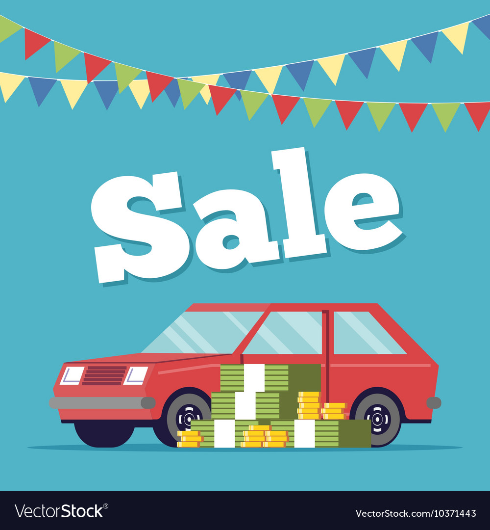 Promotional poster selling cars in the showroom