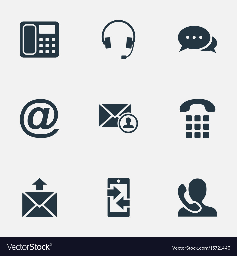 Set of simple contact icons