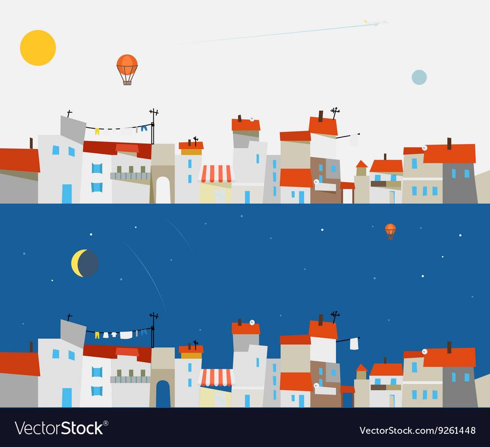 Abstract city map set Ftat design