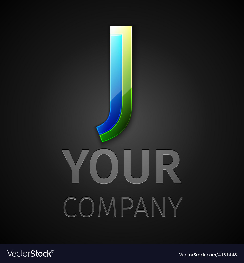 Abstract logo letter J