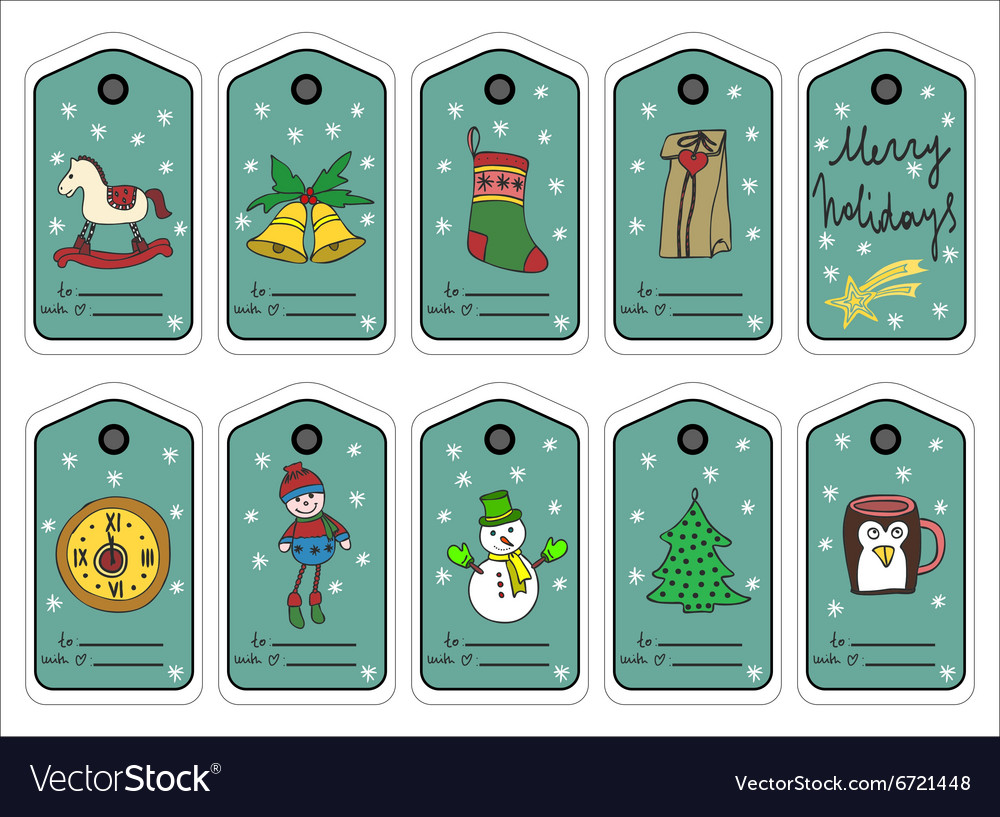 Christmas gift tags stikers and labels