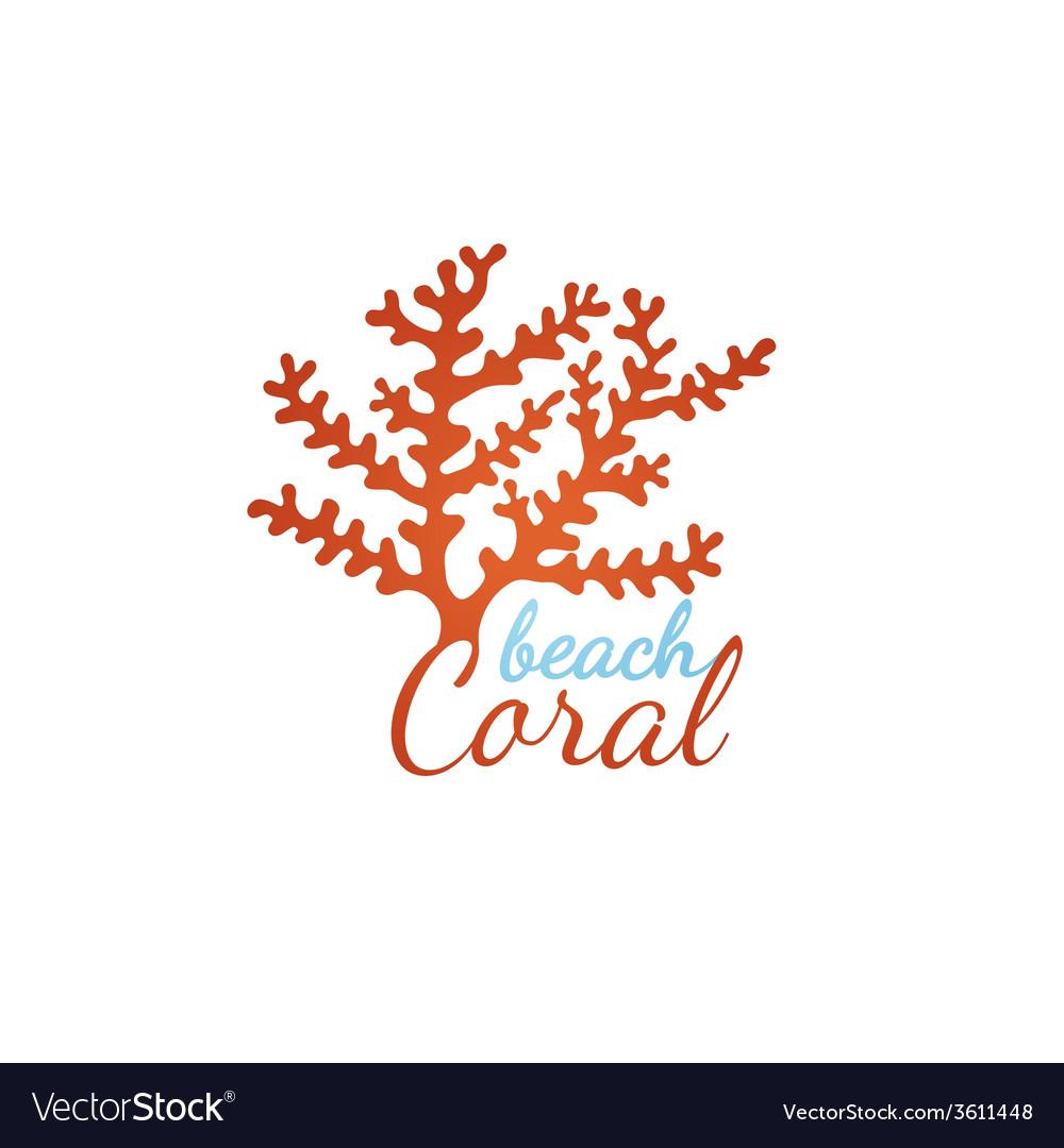 Coral Beach Logo Template