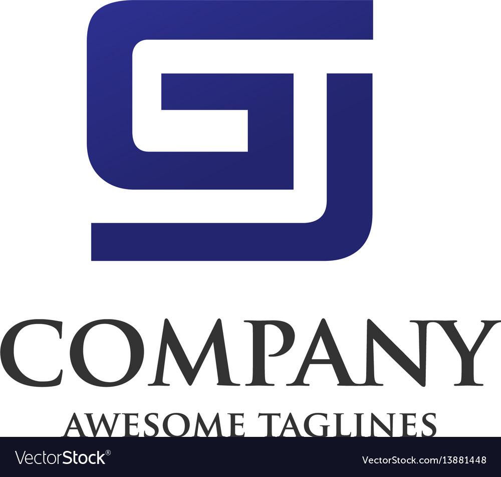 Creative letter gj design logo