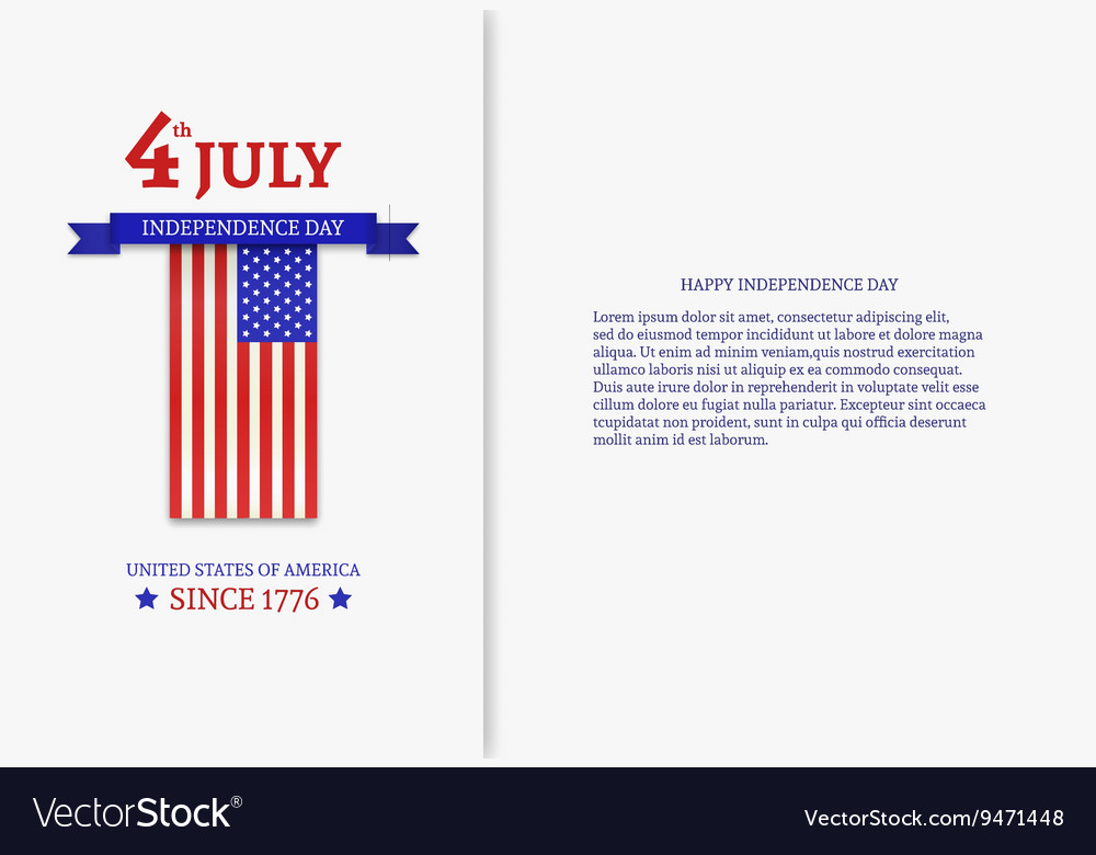 Fourth of July Stylish American Independence Day