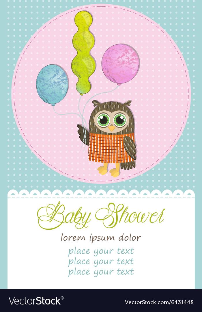 Happy Birthday Owl Royalty Free Vector Image Vectorstock