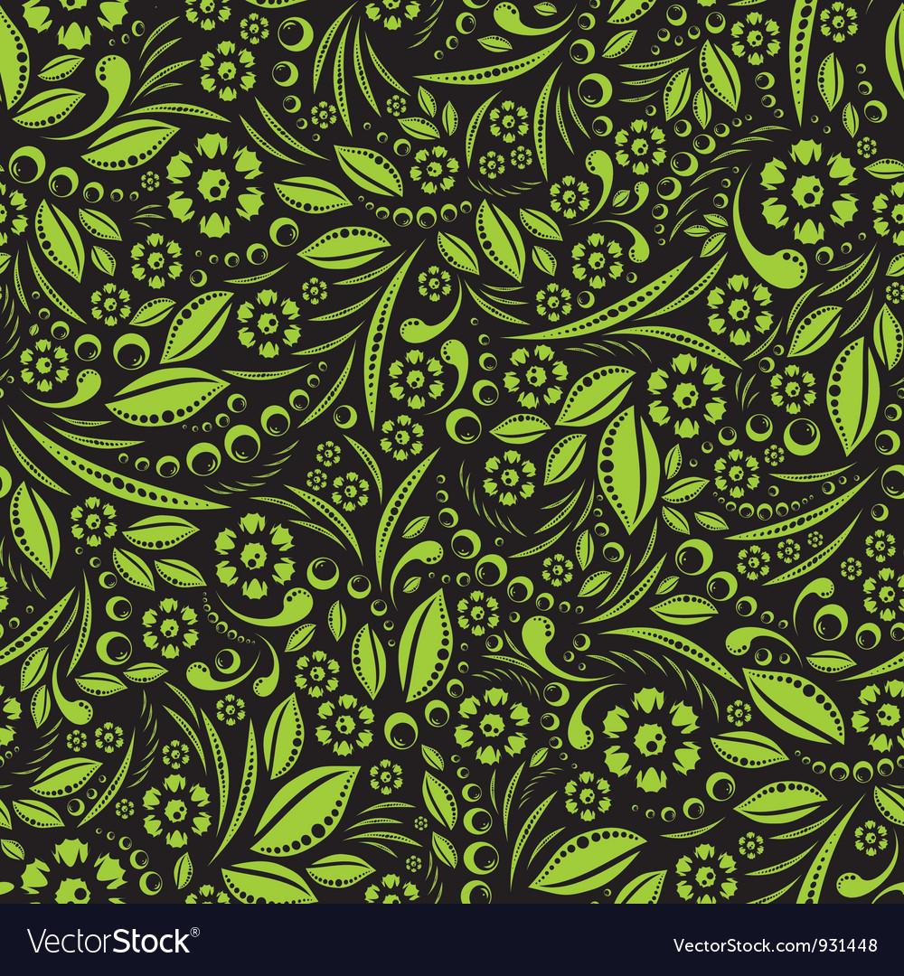 Seamless wallpaper Green vegetation repeating vector image