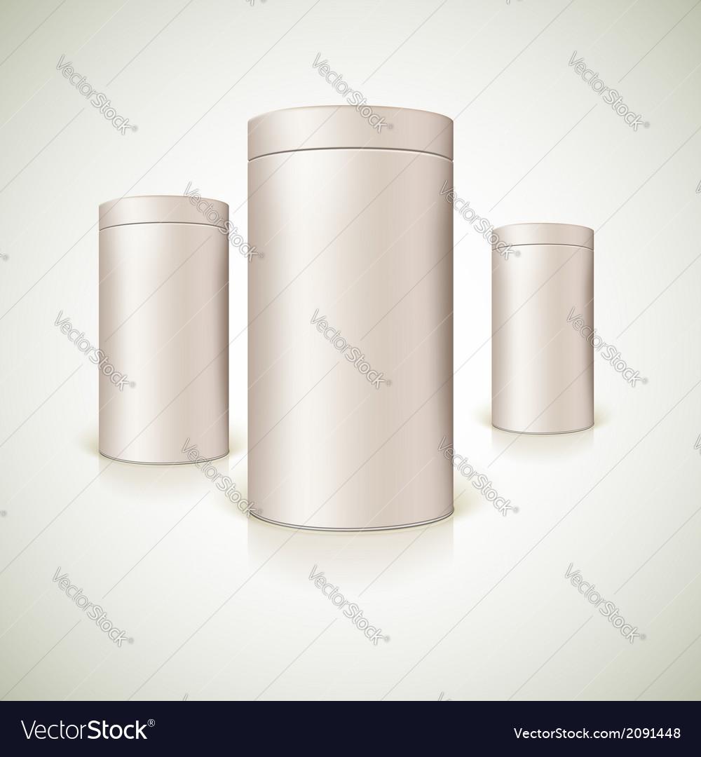 Set of round tins packaging