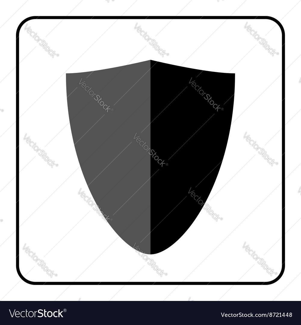 Shield icon gray and black 3 vector image