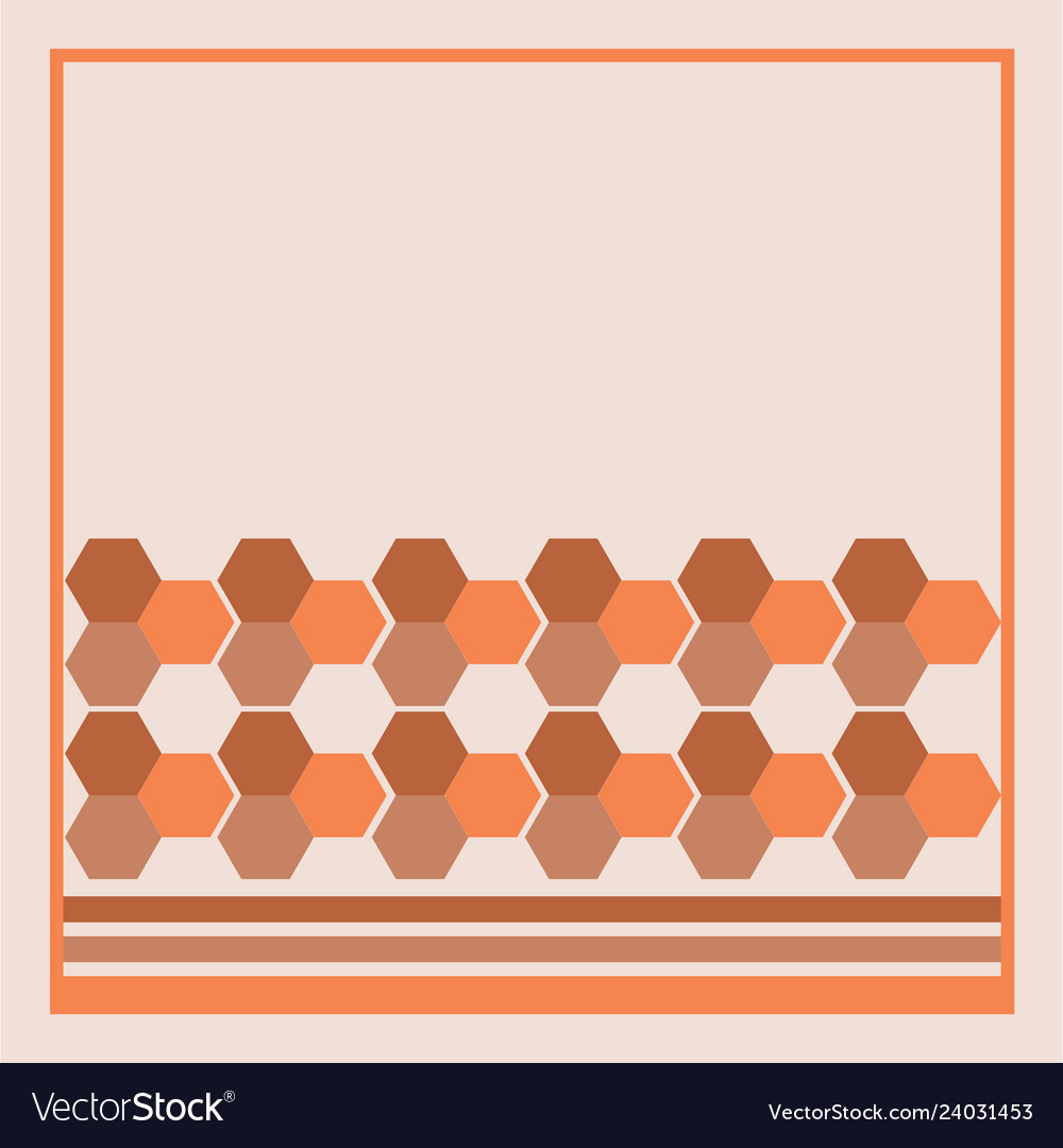 Abstract hexagon geometry background