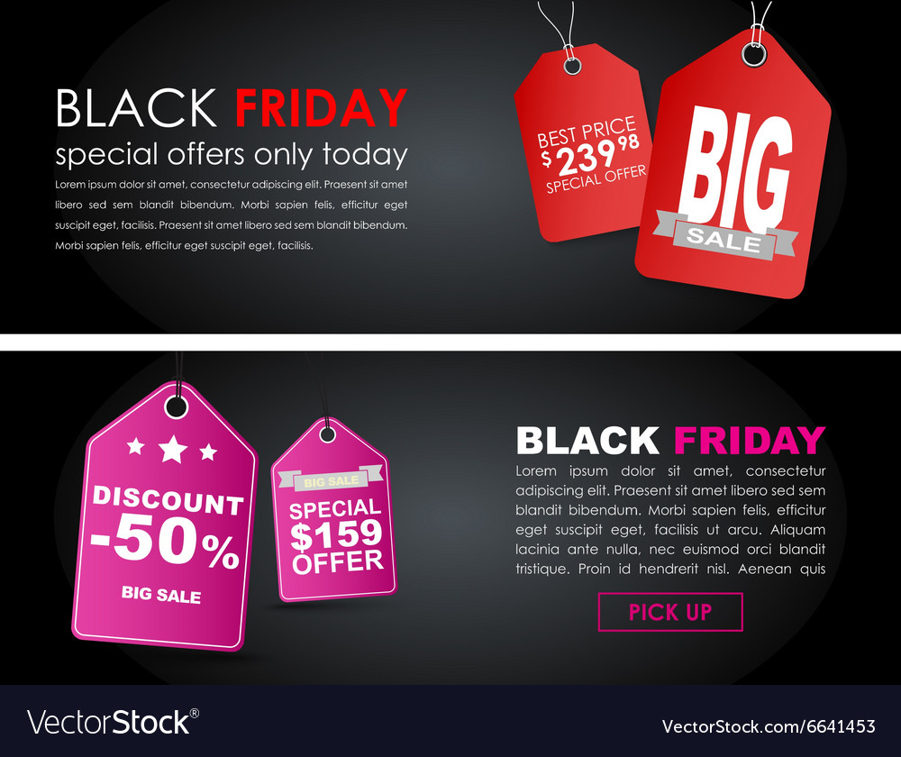 Banners Black Friday sale