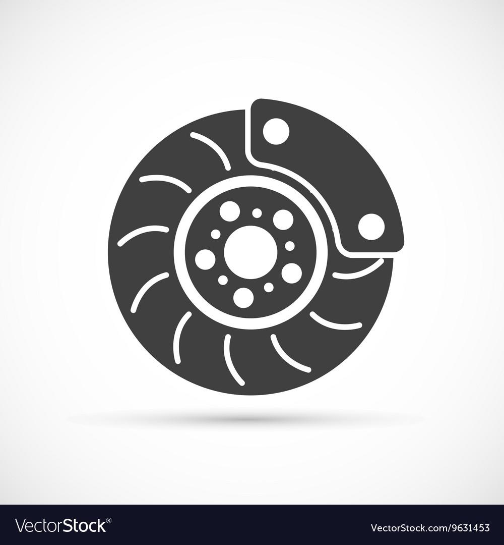 Brake Disc icon vector image