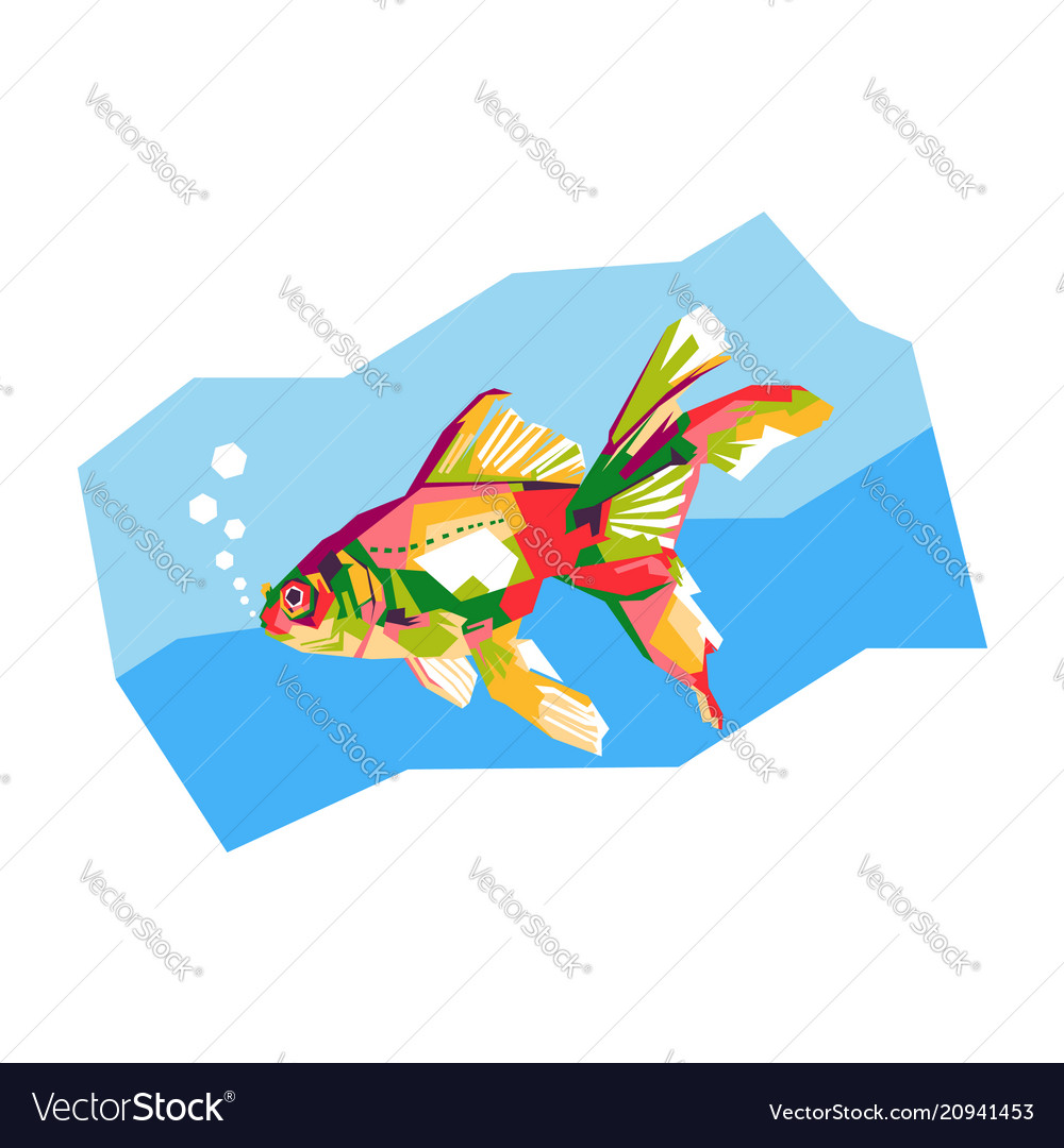 Colorful goldfish vector