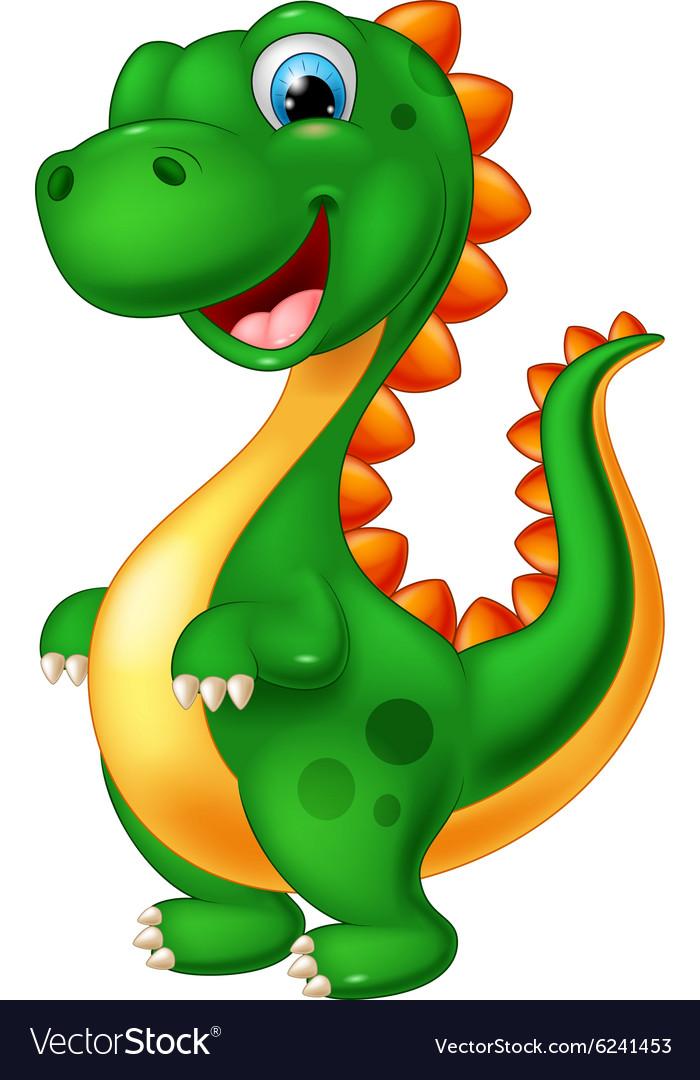 cute dinosaur cartoon royalty free vector image Scalable Vector Graphics Free Download Free Heart Clip Art Vector