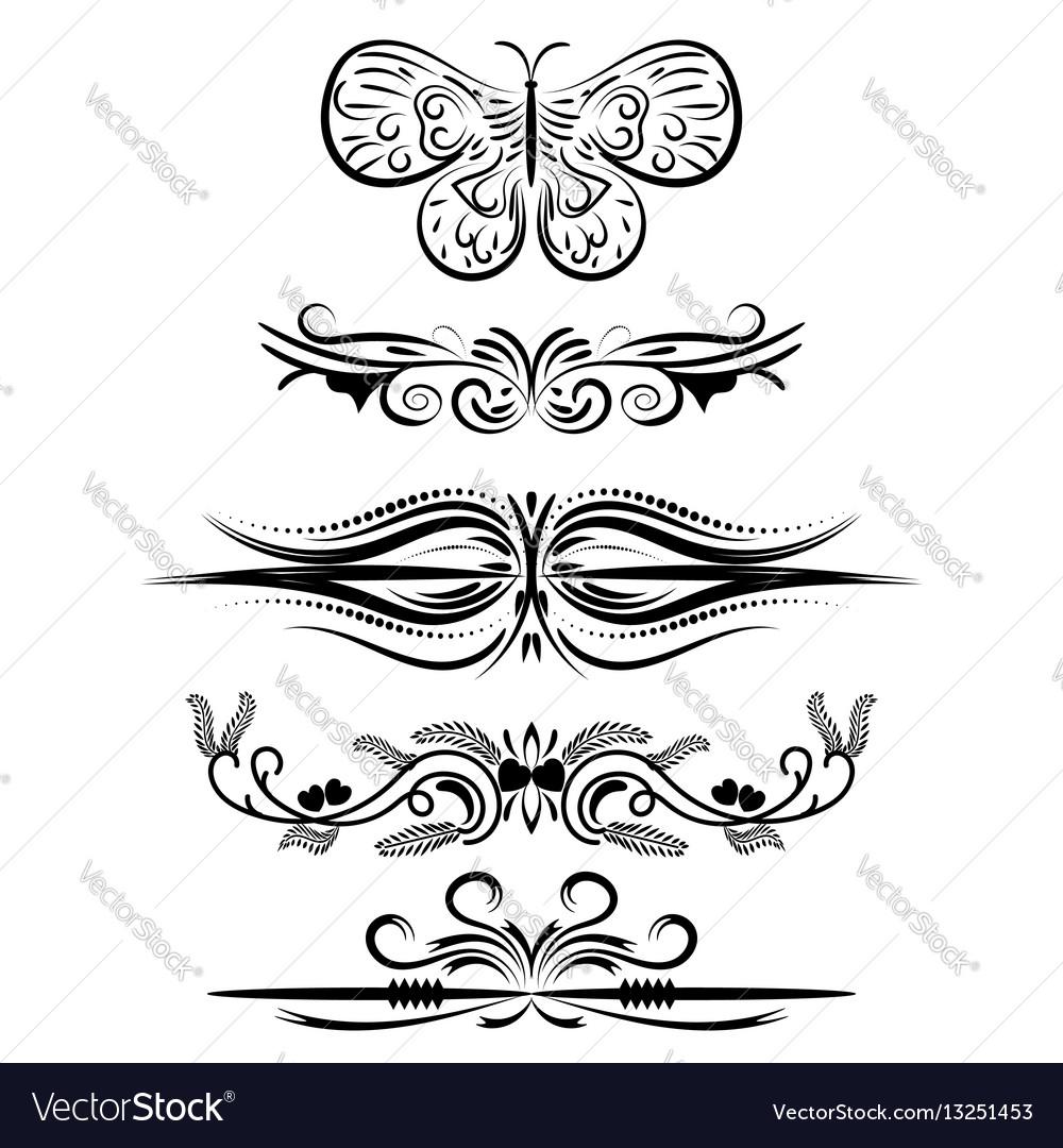 Decorative frames retro black frame vector image