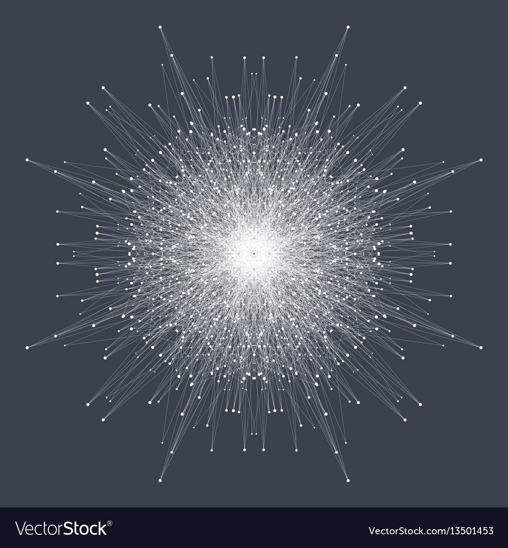 Fractal element with connected lines and dots big