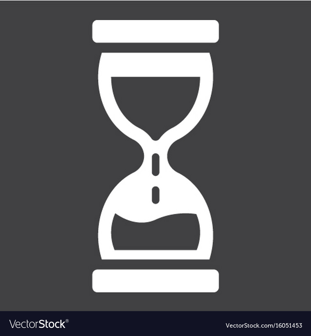 Hourglass solid icon business and deadline