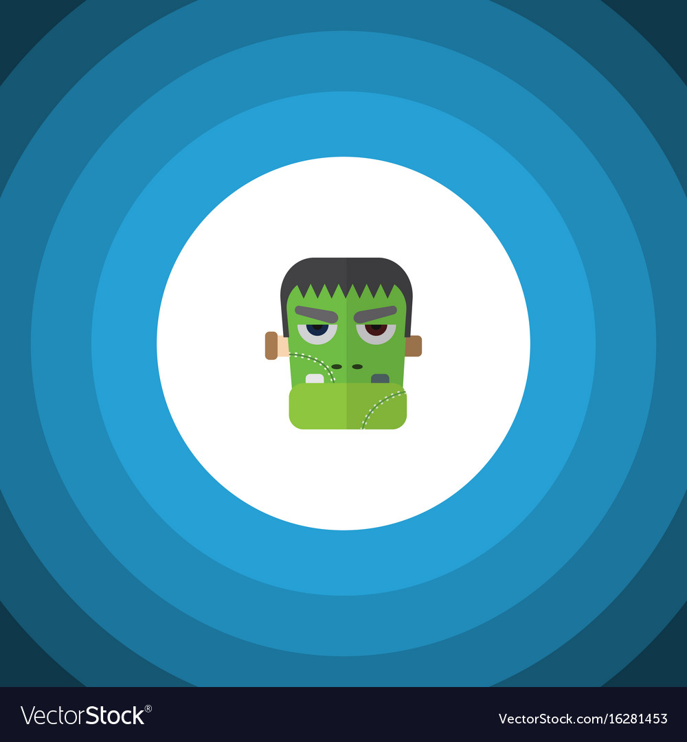 Isolated zombie flat icon monster element