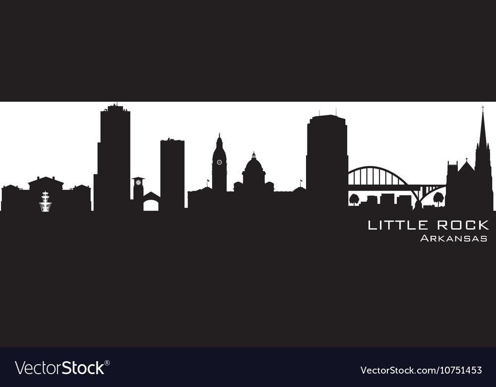Little Rock Arkansas skyline Detailed silhouette vector image