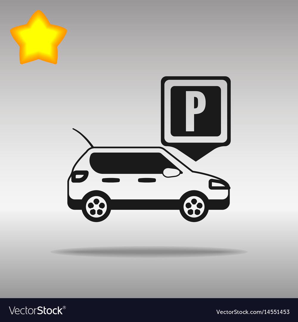 Parking black icon button logo symbol vector image