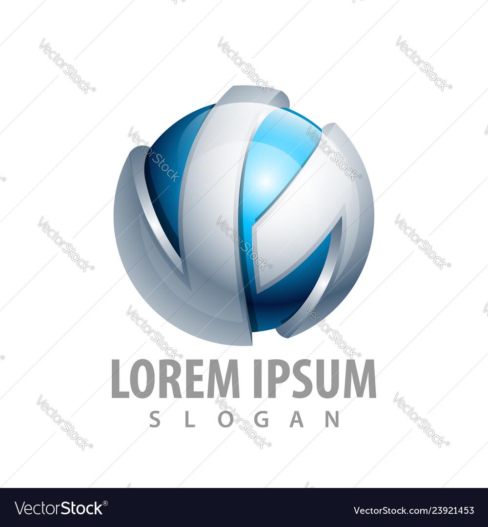 Sphere tech logo concept design symbol graphic