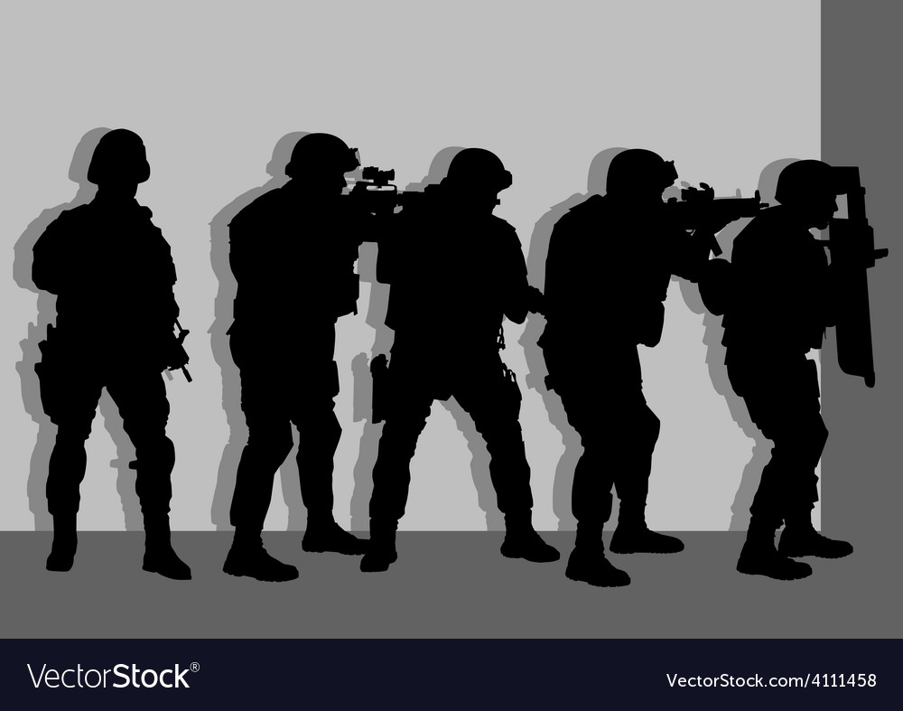 Anti Terror Armed Forces vector image