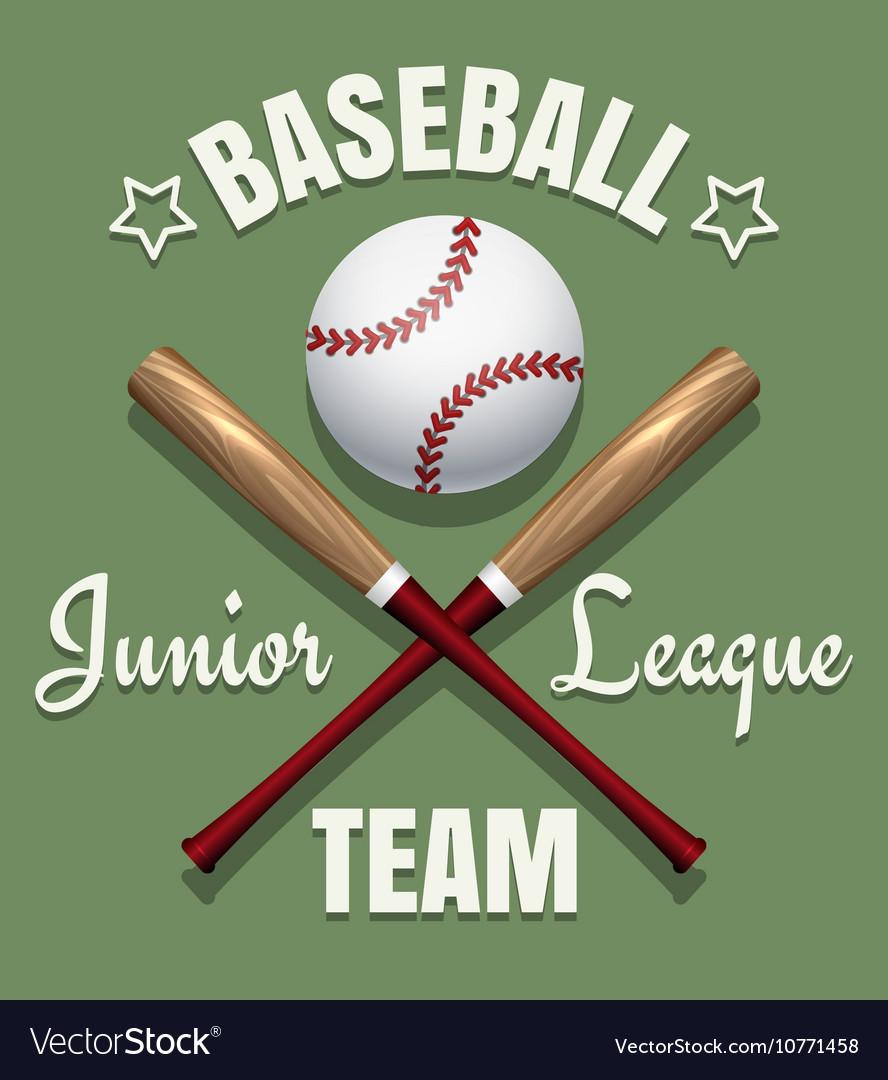 Baseball game team emblem