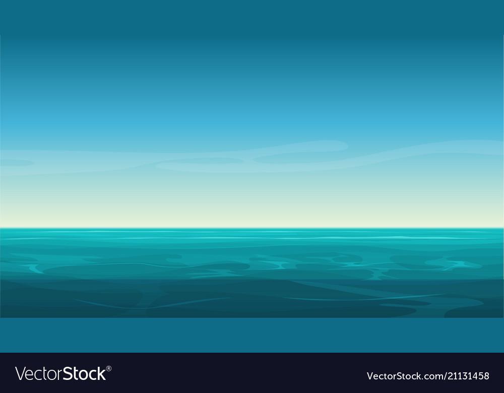 Cartoon clear ocean sea background with