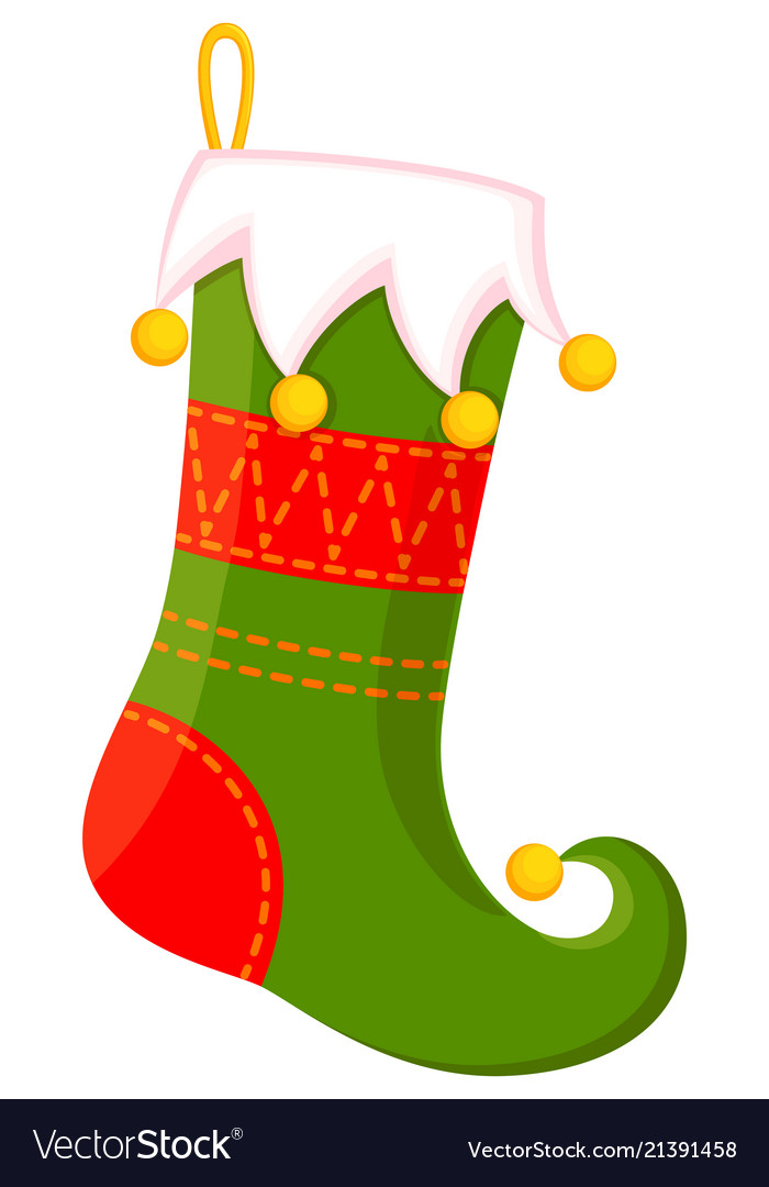 Christmas Stockings Cartoon.Colorful Cartoon Cute Christmas Stocking
