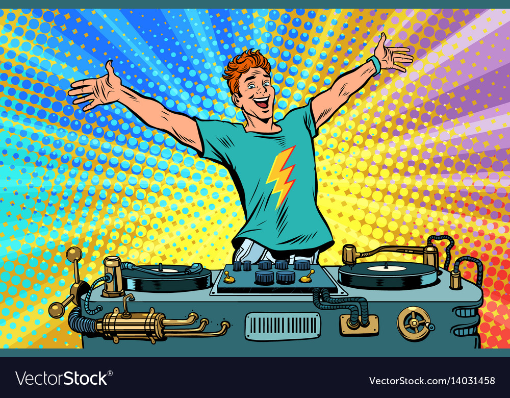 Dj on a club party