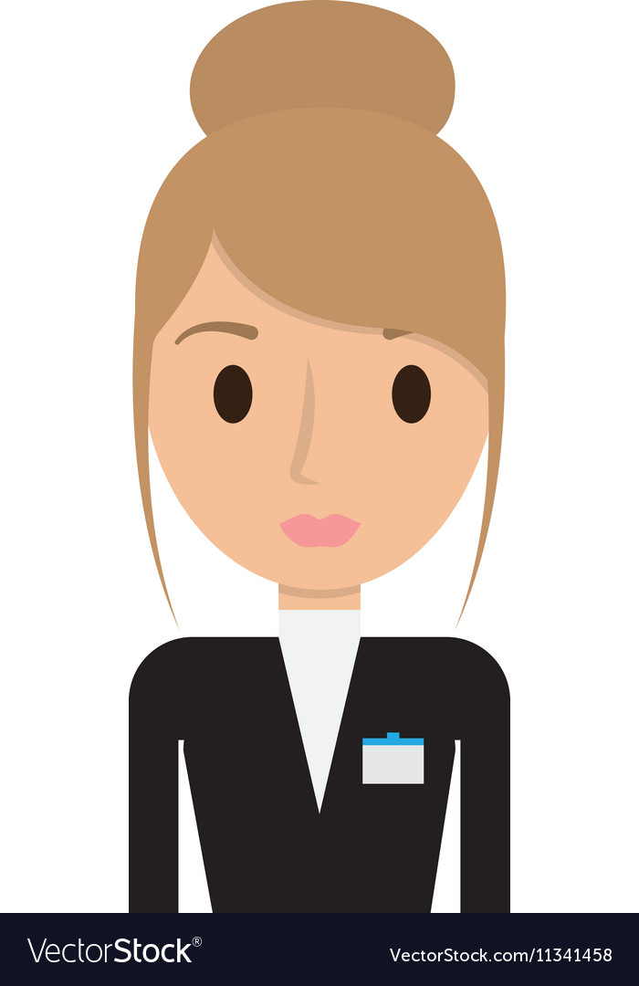 Hotel Receptionist Worker Avatar Royalty Free Vector Image