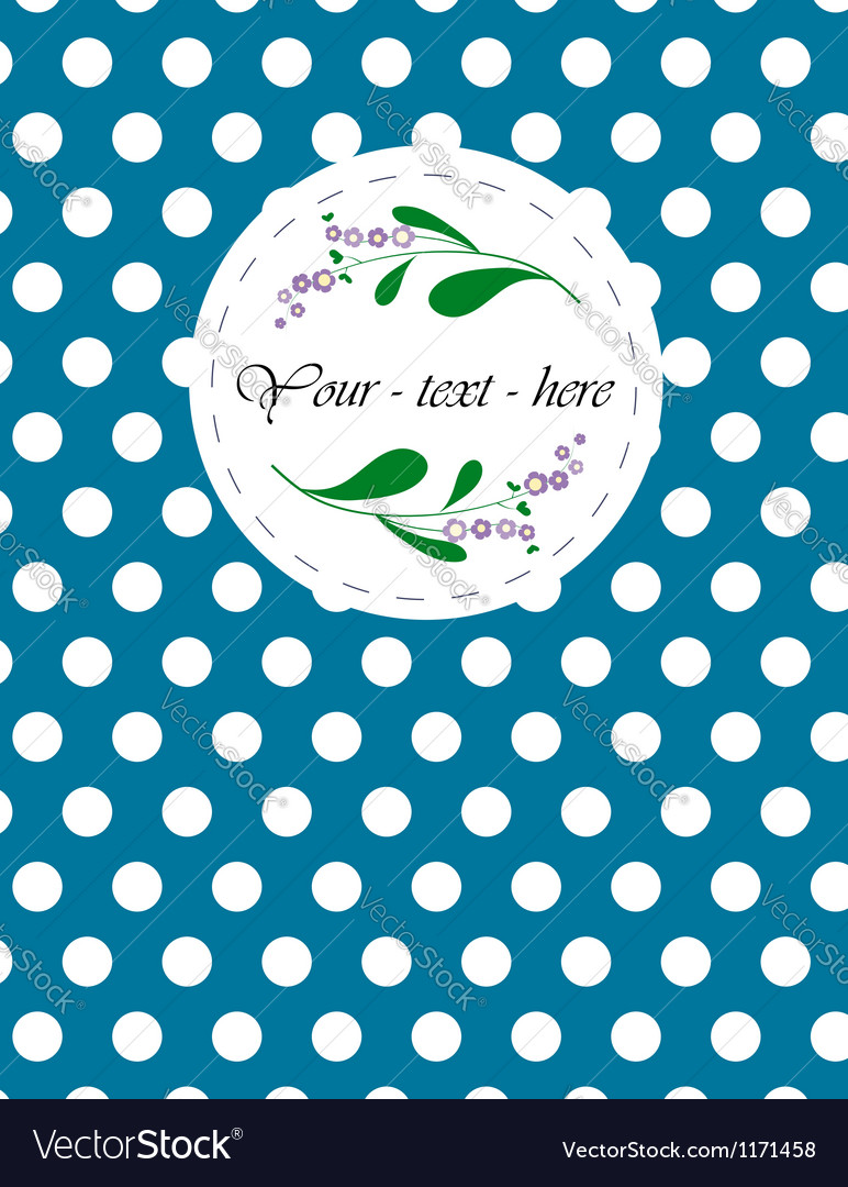 Nice card with pattern for your holiday