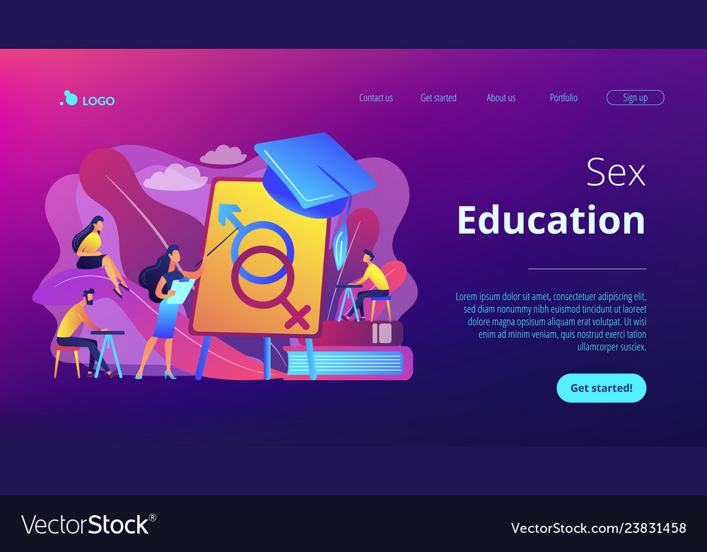Sexual education concept landing page