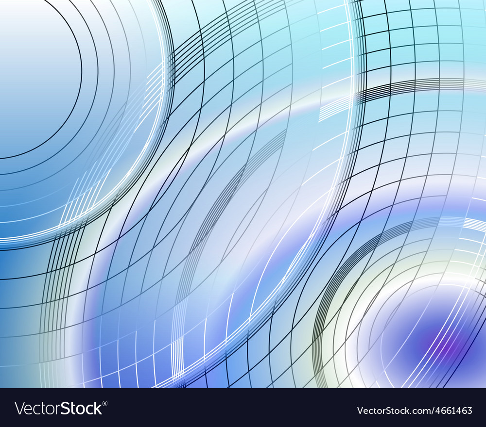 Circles on blue background