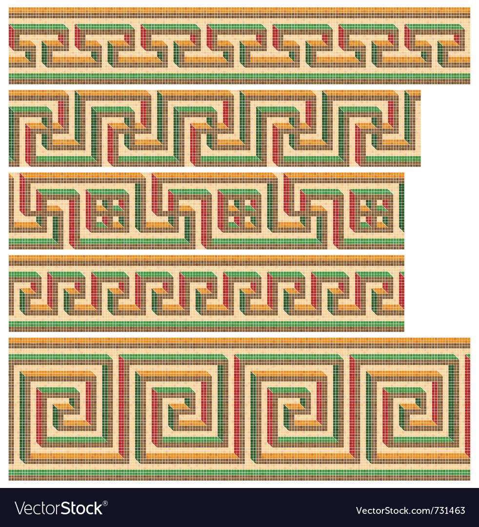 Greek - roman seamless mosaics vector image