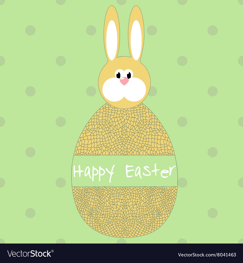 Happy easter poster egg with hare