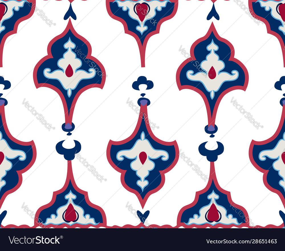 Oriental tile ornament abstract geometric retro