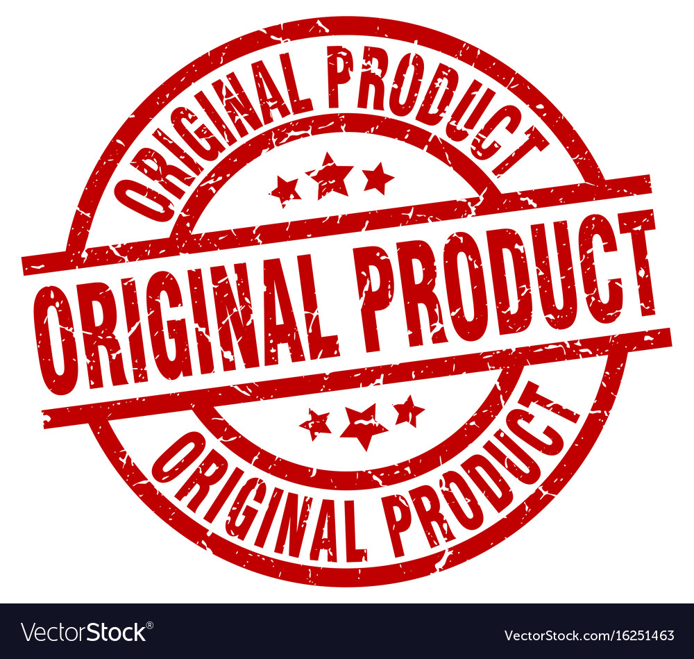 more photos a3a9b d1bb8 Original product round red grunge stamp vector image