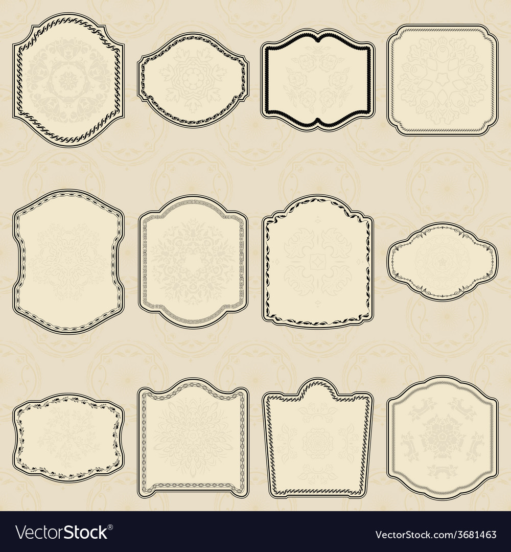 Set of design elements-vintage labels